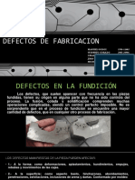 Defectos de Fabricacion