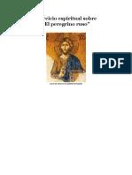 """Ejercicio Espiritual Sobre """"El Peregrino Ruso"""""""