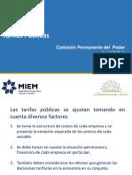 Tarifas Públicas Informe Del Gobierno