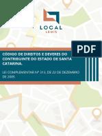 Local Legis - PGE SC - LC 313 - Código de Direitos e Deveres Do Contribuinte