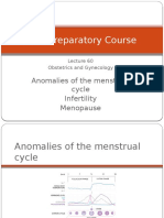 62 Lecture Menstrual Cycle Abnormalities, Infertility, Menopause