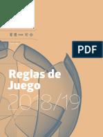 REGLAS DE JUEGO FIFA 2018 - 2019