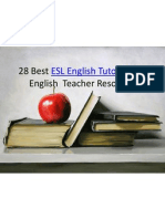 ESL Tutor English Teacher Resources Online English Lesson