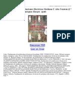 Fundamentos de Instalaciones Electricas Mediana Y Alta Tension (2 ª Ed)