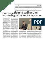 Sanità, polemica su Bresciani «è inadeguato e senza risposte»