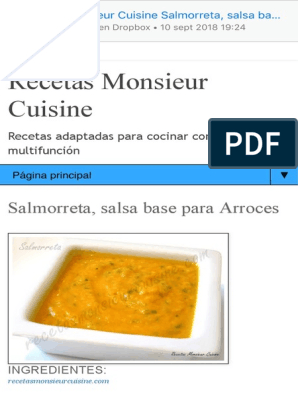 Salmorreta Salsa Base Para Arroces