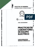 Prácticas de Laboratorio de Equipo Eléctrico