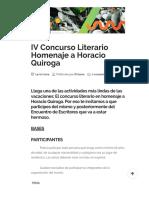 Prisma _ IV Concurso Literario Homenaje a Horacio Quiroga