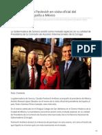 30-01-2019 Presente Claudia Pavlovich en visita oficial del Presidente de España a México - El Sol de Hermosillo