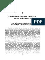 Cap. III Capacitatea de Folosinta a Persoanei Fizice