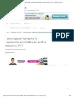 Cómo Reparar Windows 10 Reparación Automática No Podría Reparar Su PC_ - Arreglar PC Errores