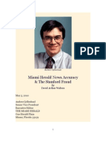 Miami Herald Inaccuracy and the Stanford Fraud by David Arthur Walters