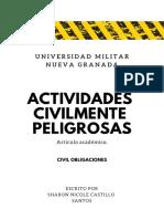 Actividades Civilmente Peligrosas