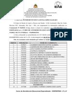 Resultado Final - Curso de Atendimento Educacional Especializado - VESPERTINO - 2ª e 4ª