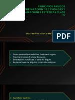 Principios Basicos Preparación Cavidades y Restauracion Clase IV V