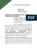 Solicita Archivo Definitivo de La Denuncia Fiscal.