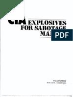 CIA Explosives for Sabotage Manual Paladin Press 1987