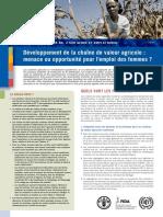Developpement de la Chaine de valeur agricole