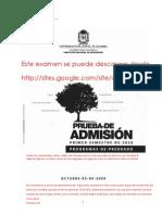20849212 Examen de Admision Universidad Nacional Con Respuestas I 2010
