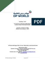 Dpw Jabal Ali tariff 2017 edition v1
