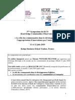 3ème Symposium_KCO  Kedge BS Toulon France 11_12 06 2019 VF