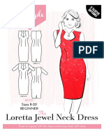 Loretta Jewel Neck Dress