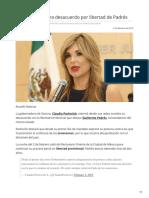 03-02-2019 Pavlovich muestra desacuerdo por libertad de Padrés - Acustik Noticias