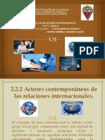 2.2.2 Actores Comtemporáneos de las RI (1)