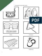 Intrumentos de Percusión Para Colorear