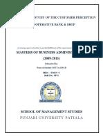 Comparative+Study+of+Customer+Perception+Cooperative+Bank+&+SBOP