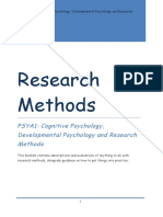 As AQA PSYA1 Research Methods Booklet