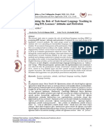 Examining the Role of Task-based Language Teaching in Fostering EFL Learners' Attitudes and Motivation