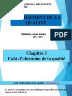 Chapitre 3 Cout D_obtention de La Qualite