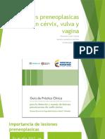 Lesiones Preneoplasicas en Cérvix, Vulva y Vagina