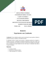 Reação Catalase- Relatório