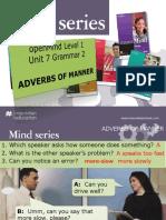 Grammar Adverbs of Manner