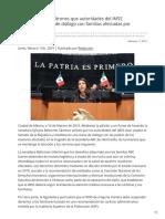 11/Febrero/2019 Solicita Sylvana Beltrones que autoridades del IMSS establezcan mesa de diálogo con familias afectada