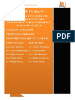 Plan de Trabajo Junta Parroquial 2019