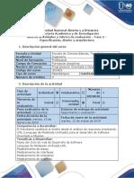 Guía de Actividades y Rúbrica de Evaluación – Fase 2 – Especificación, Diseño y Arquitectura