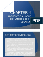 4. Hydrological Cycle and Water Budget Equation (1)