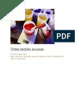 Tintas Textiles Acuosas Archivos Utiles