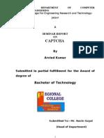 CAPTCHA Seminar Report