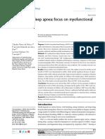 Obstructive Sleep Apnea Focus on Myofunctional Therapy
