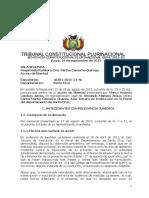 SCP 0894-2015-s2 Marco Antonio Cardozo Jemio - Derecho Presuncion de Veracidad de Hechos y Actos Denunciados Por El Accionante y Dilacion Indebida Procesal