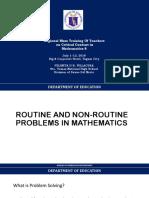 RTOT Non Routine