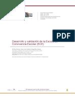 Desarrollo y Validación de La Escala de Convivencia Escolar (ECE)