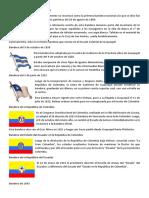 Lamina Historia de La Bandera de Ecuador