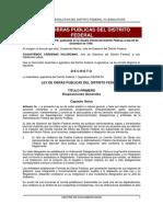 Ley de Obras Cdmx