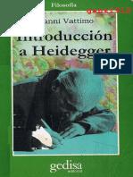 Vattimo, Gianni - Introducción a Heidegger