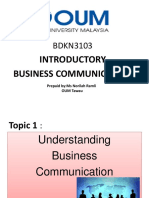 Business in Communication topic 1
